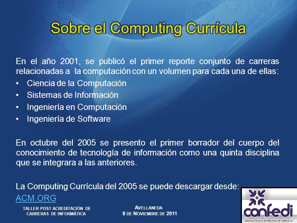 Sobre el Computing Currícula