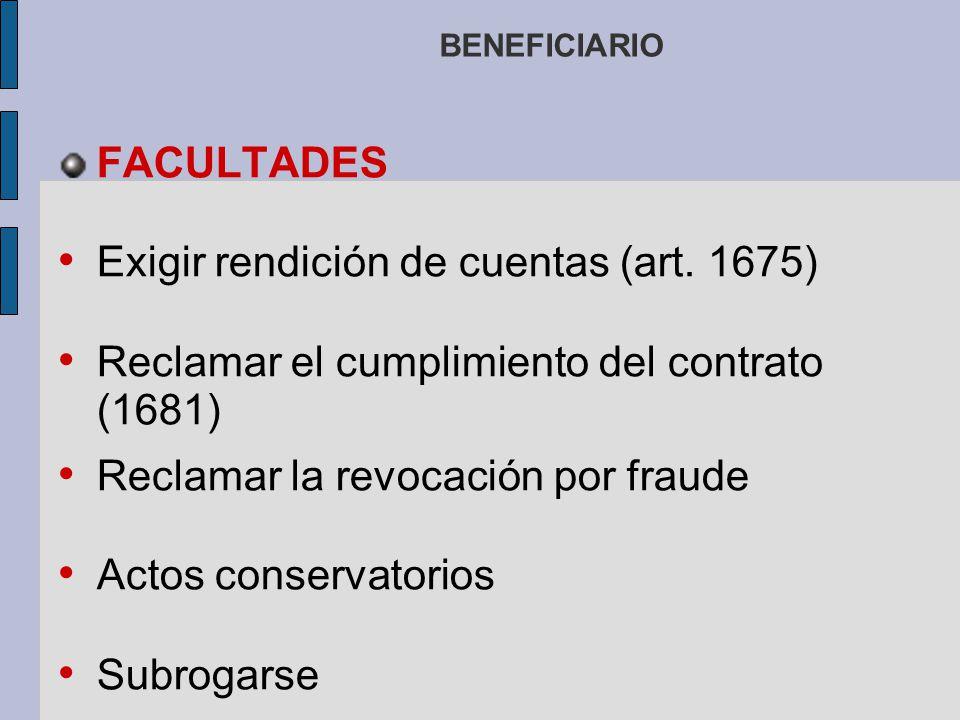 Exigir rendición de cuentas (art. 1675)