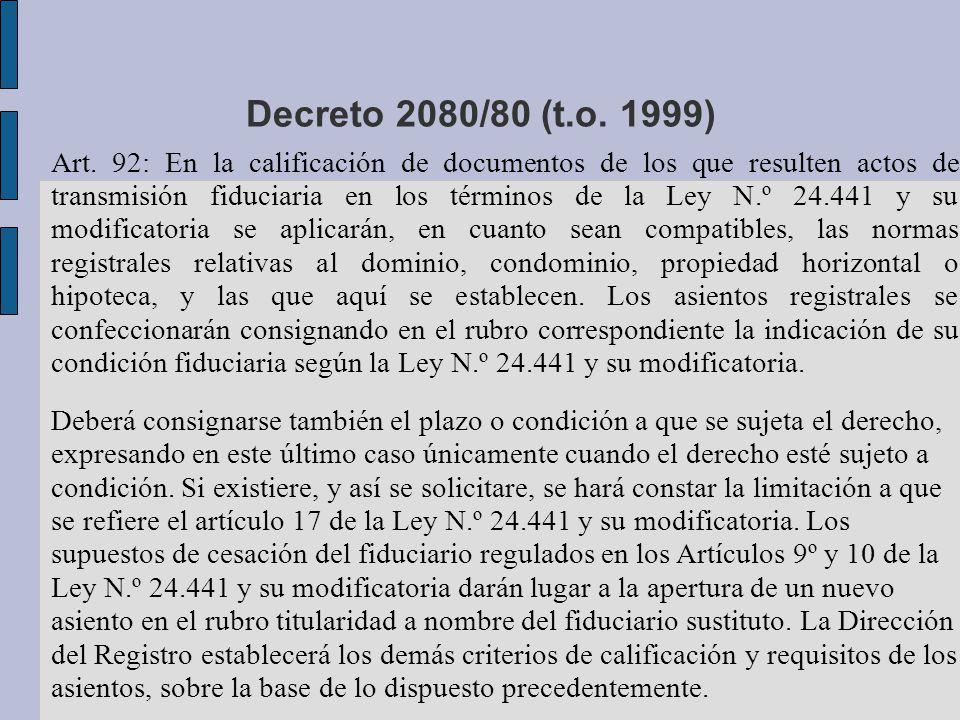 Decreto 2080/80 (t.o. 1999)