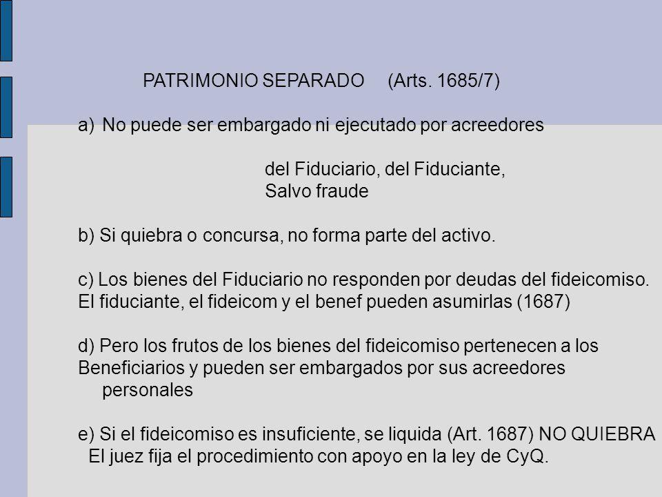 PATRIMONIO SEPARADO (Arts. 1685/7)