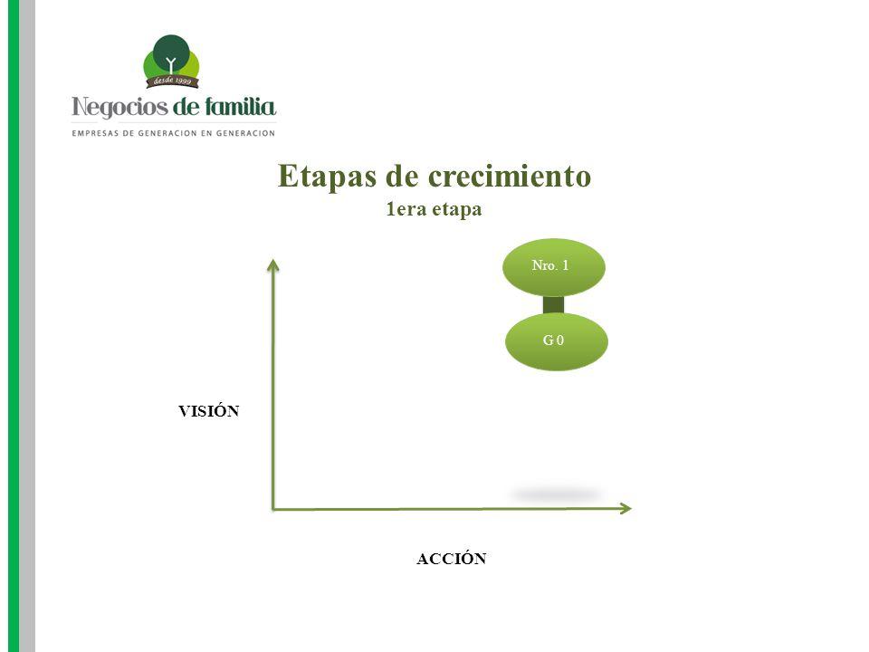 Etapas de crecimiento 1era etapa Nro. 1 G 0 VISIÓN ACCIÓN