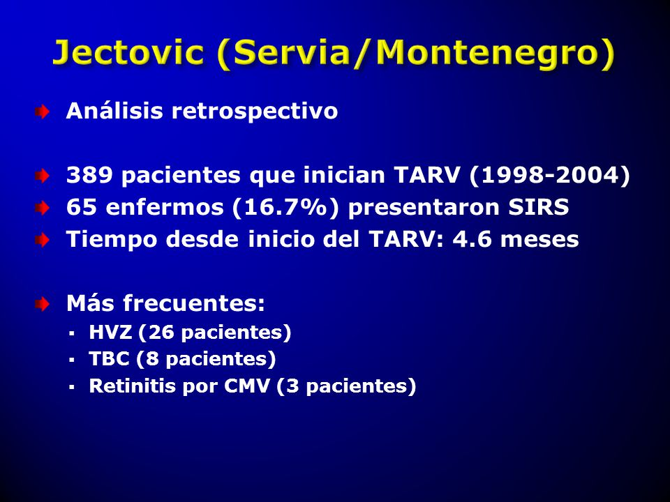 Análisis retrospectivo 389 pacientes que inician TARV (1998-2004)