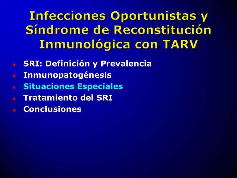 Infecciones Oportunistas y Síndrome de Reconstitución Inmunológica con TARV