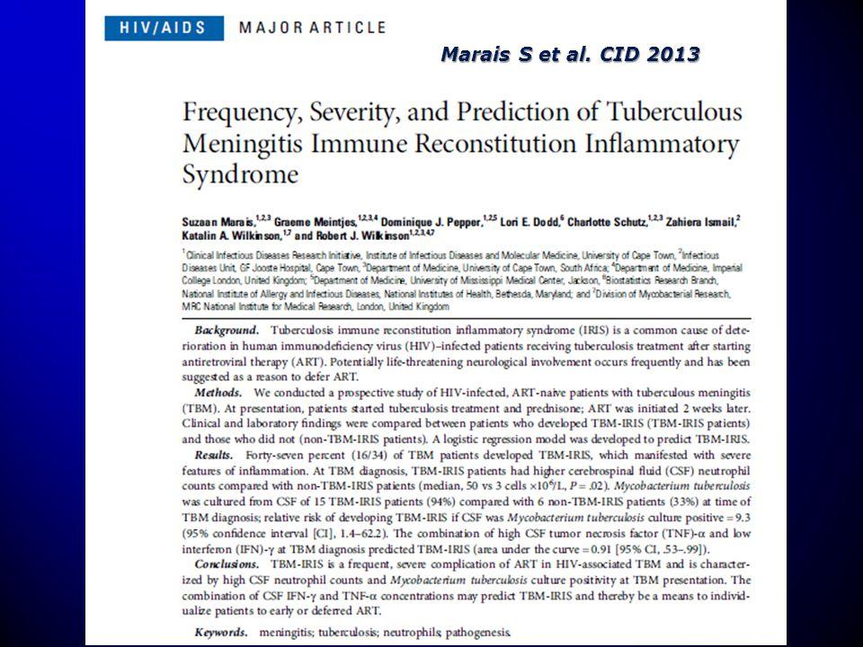 Marais S et al. CID 2013