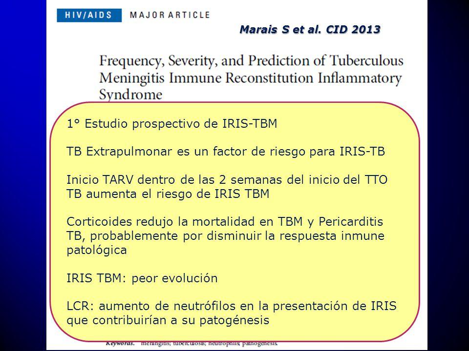 1° Estudio prospectivo de IRIS-TBM