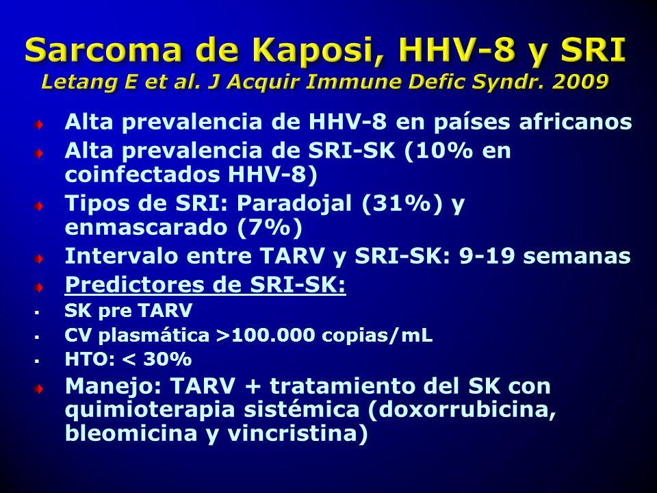 Alta prevalencia de HHV-8 en países africanos
