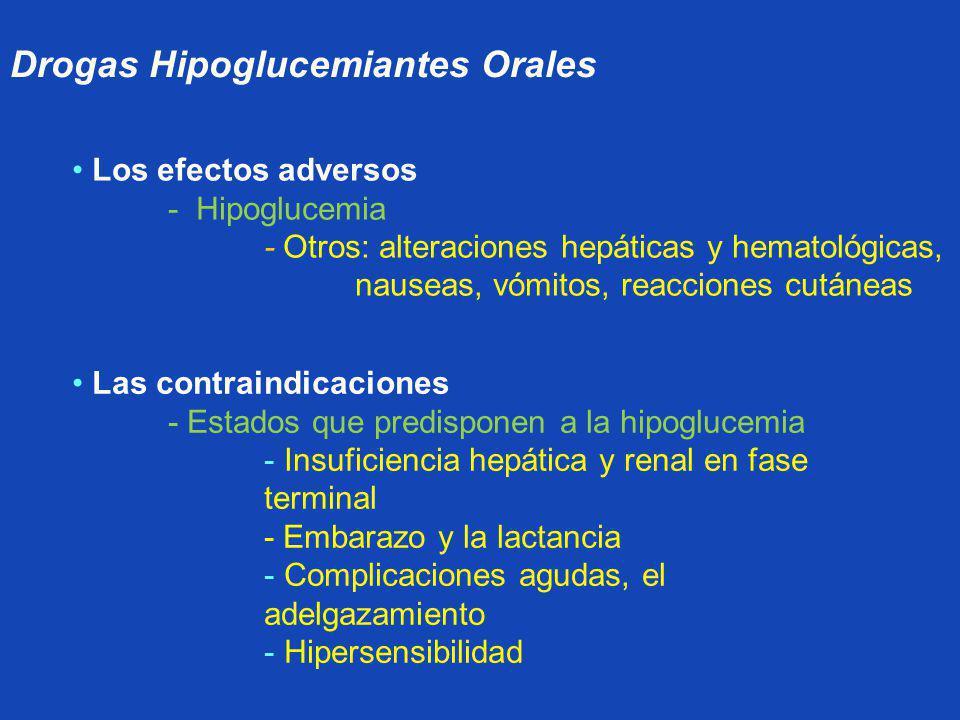 Drogas Hipoglucemiantes Orales