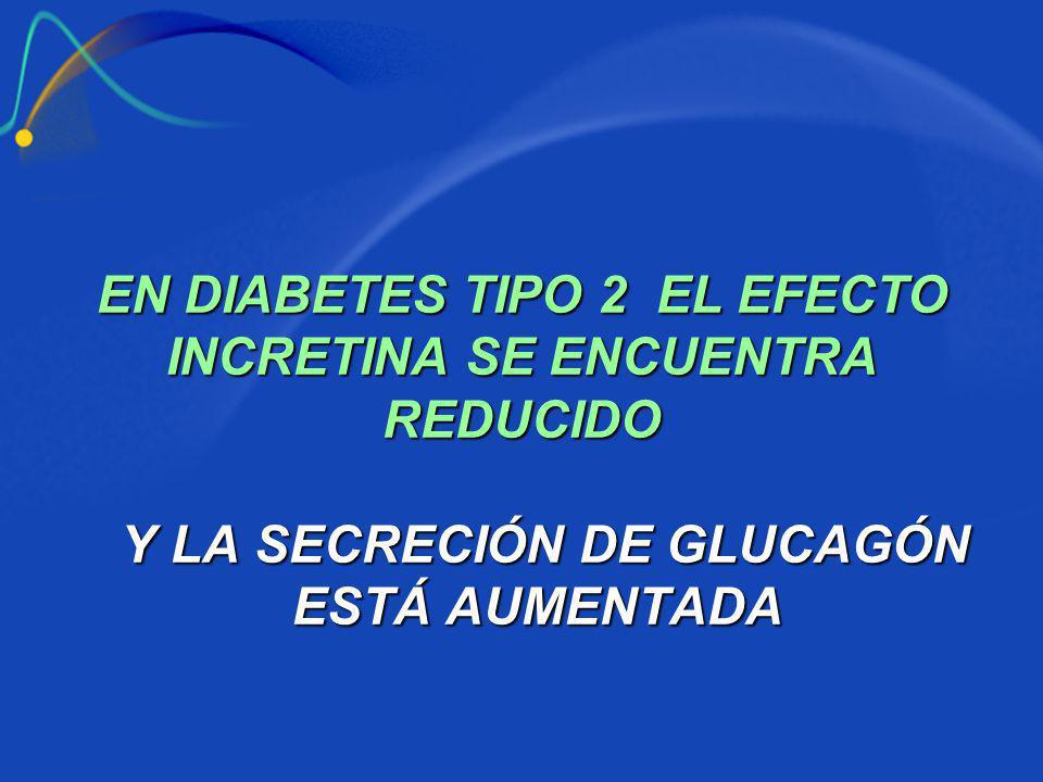EN DIABETES TIPO 2 EL EFECTO INCRETINA SE ENCUENTRA REDUCIDO
