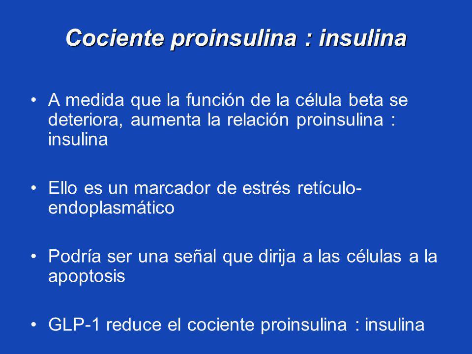 Cociente proinsulina : insulina