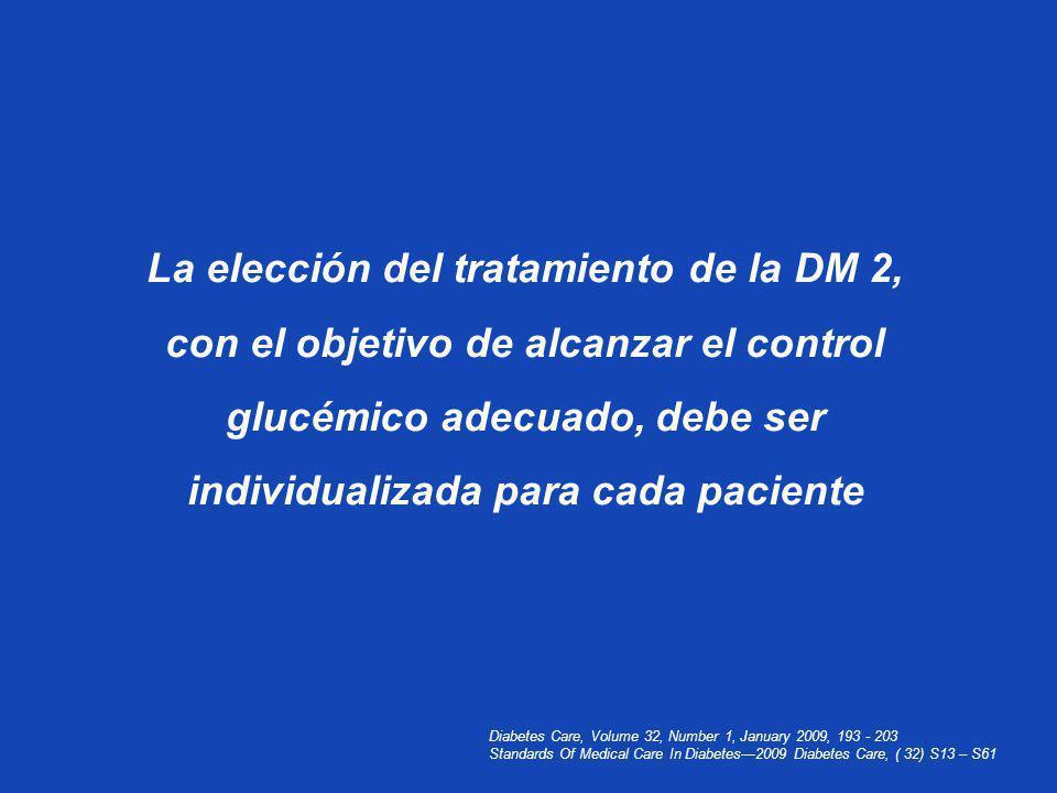 La elección del tratamiento de la DM 2,