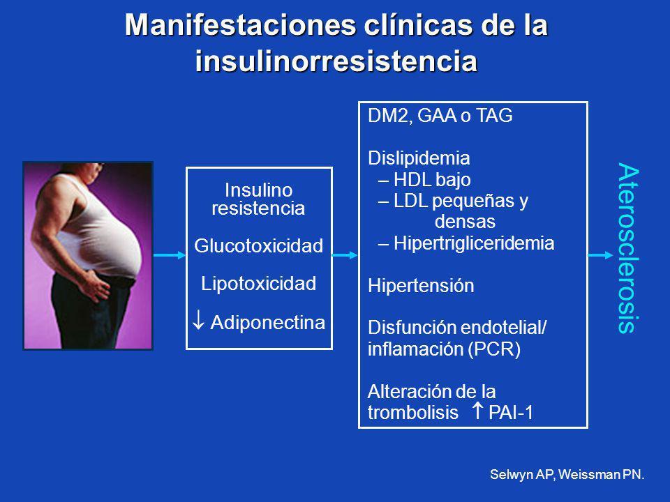 Manifestaciones clínicas de la insulinorresistencia