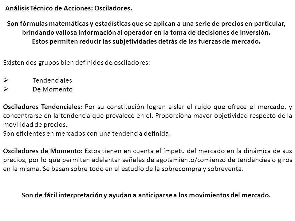 Análisis Técnico de Acciones: Osciladores.