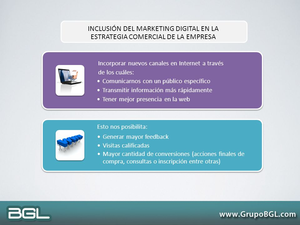 INCLUSIÓN DEL MARKETING DIGITAL EN LA ESTRATEGIA COMERCIAL DE LA EMPRESA