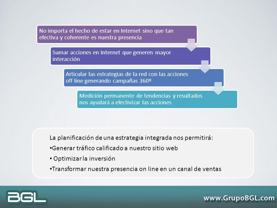 La planificación de una estrategia integrada nos permitirá: