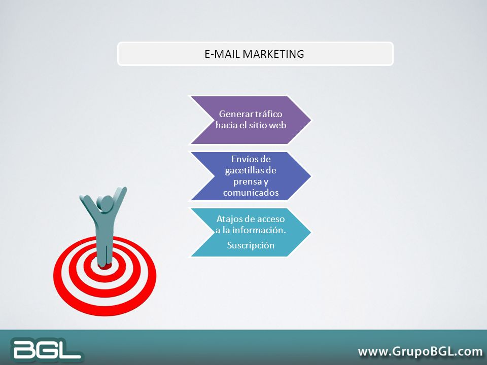 E-MAIL MARKETING Generar tráfico hacia el sitio web