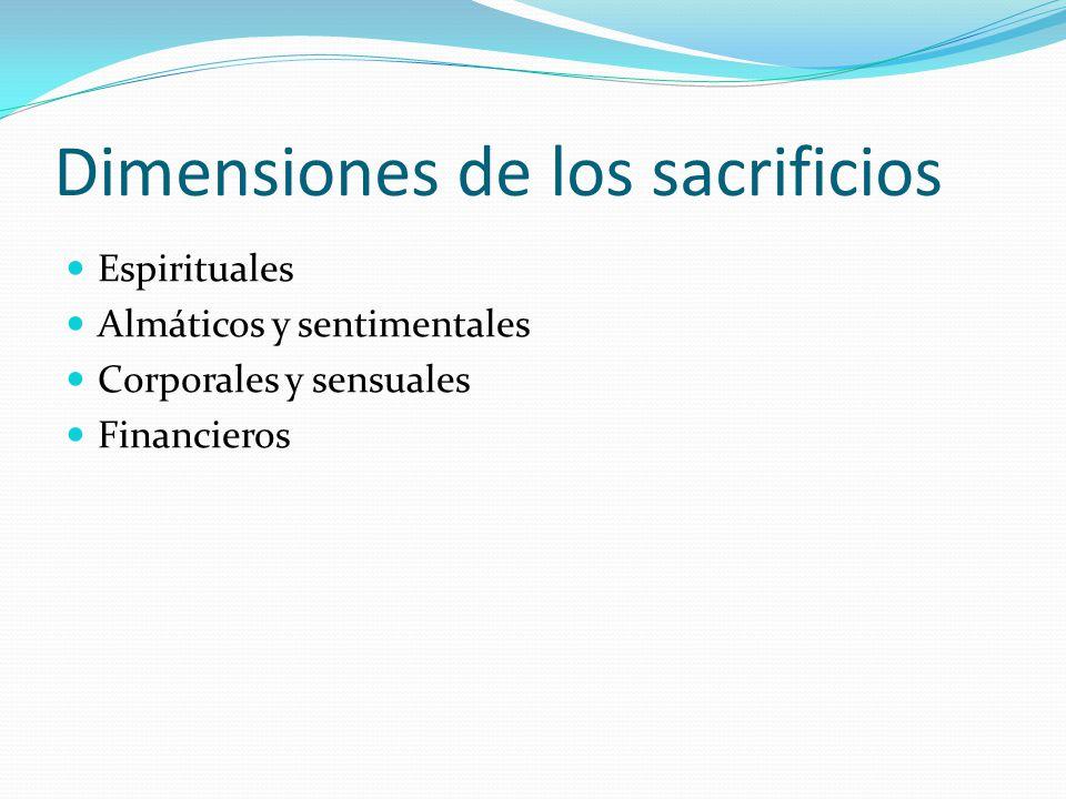Dimensiones de los sacrificios