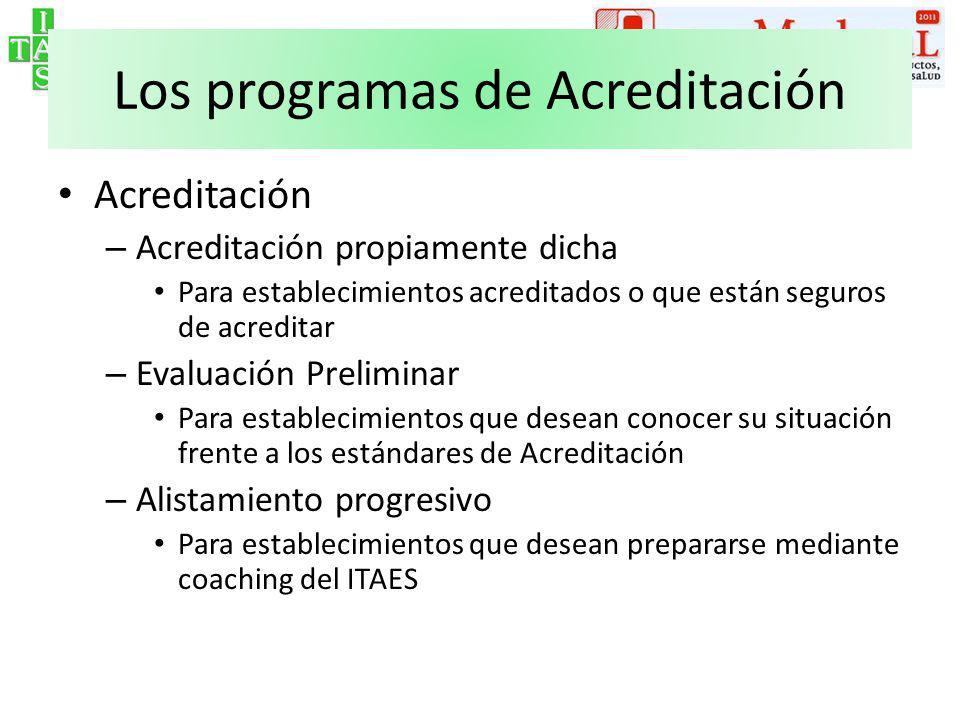 Los programas de Acreditación