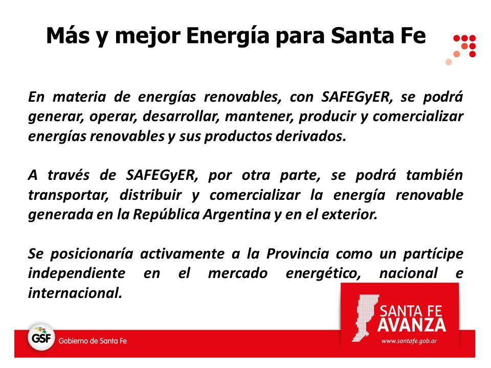 Más y mejor Energía para Santa Fe