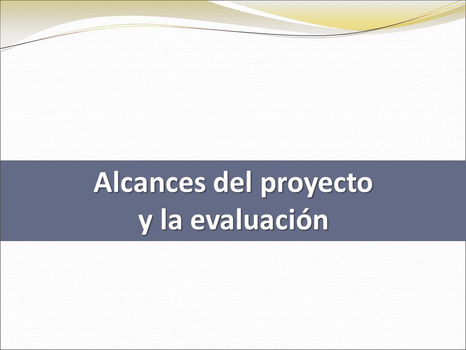 Alcances del proyecto y la evaluación