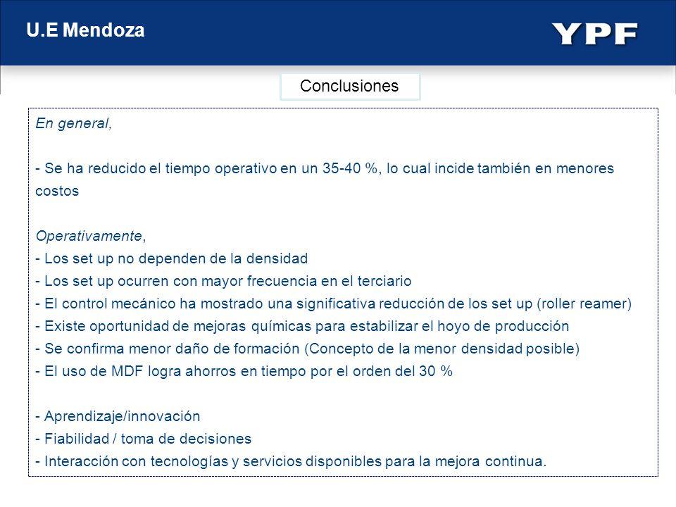 U.E Mendoza Conclusiones En general,
