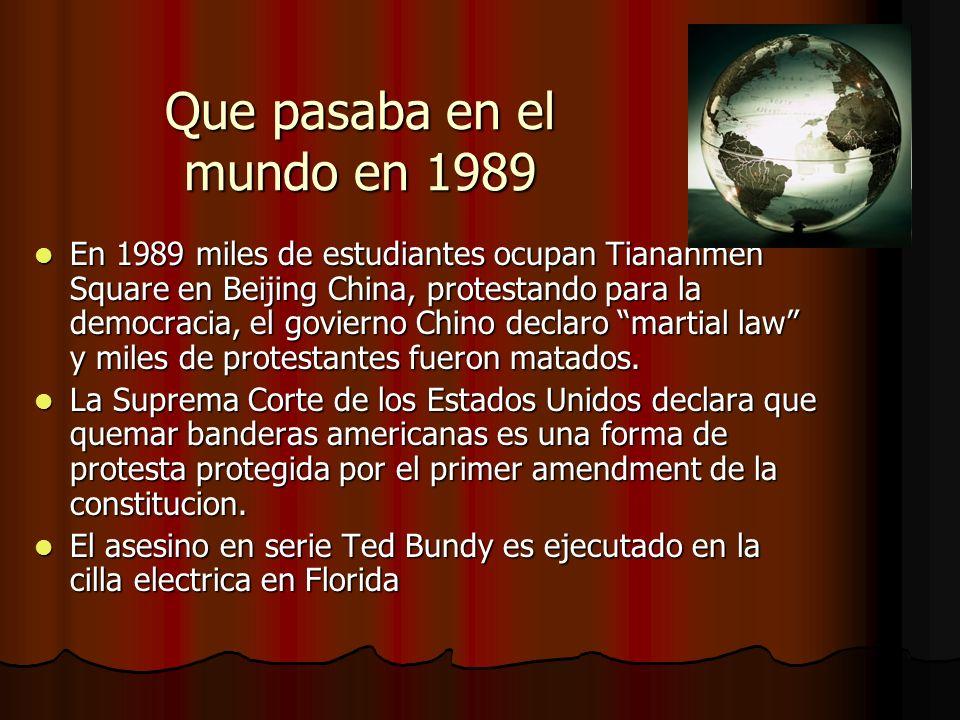 Que pasaba en el mundo en 1989