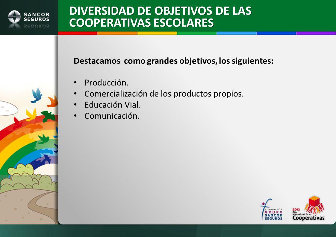 DIVERSIDAD DE OBJETIVOS DE LAS COOPERATIVAS ESCOLARES