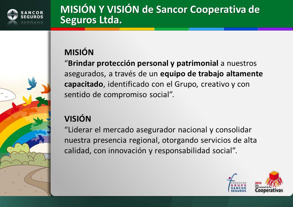 MISIÓN Y VISIÓN de Sancor Cooperativa de Seguros Ltda.