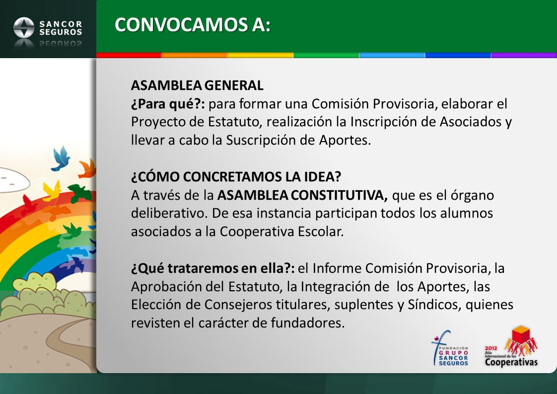CONVOCAMOS A: ASAMBLEA GENERAL