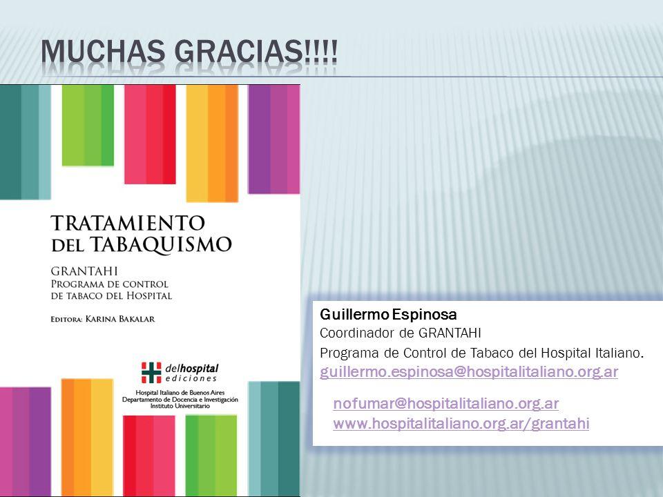 Muchas gracias!!!! Guillermo Espinosa