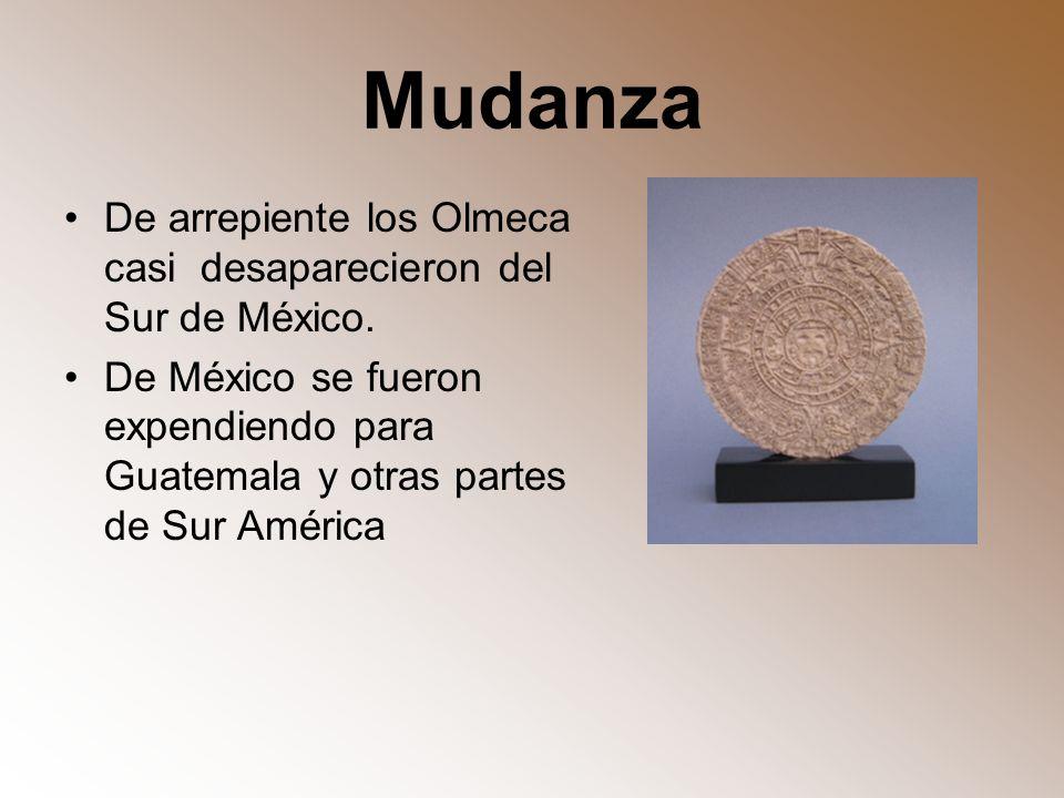 Mudanza De arrepiente los Olmeca casi desaparecieron del Sur de México.