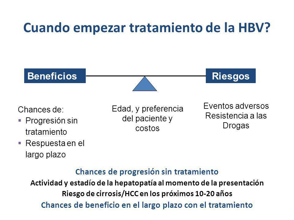 Cuando empezar tratamiento de la HBV