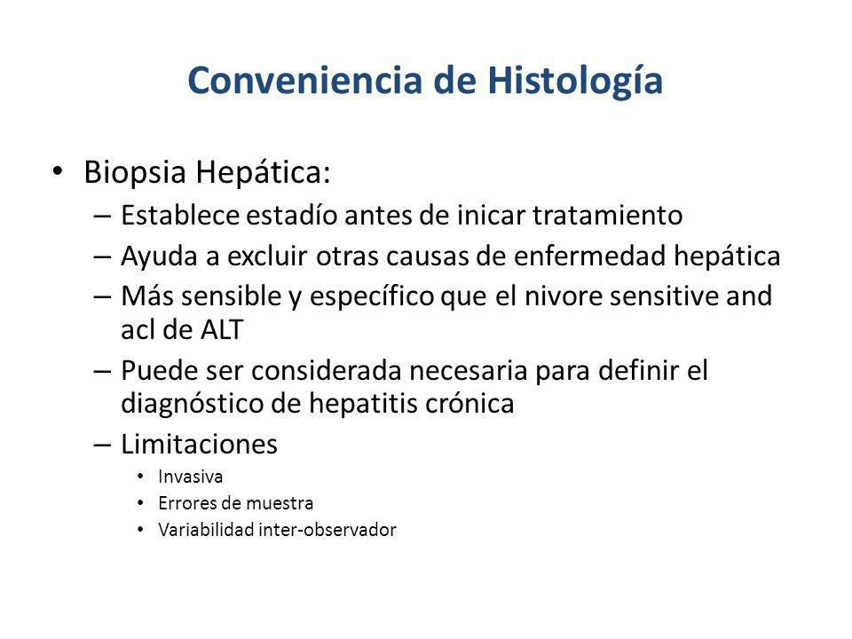Conveniencia de Histología