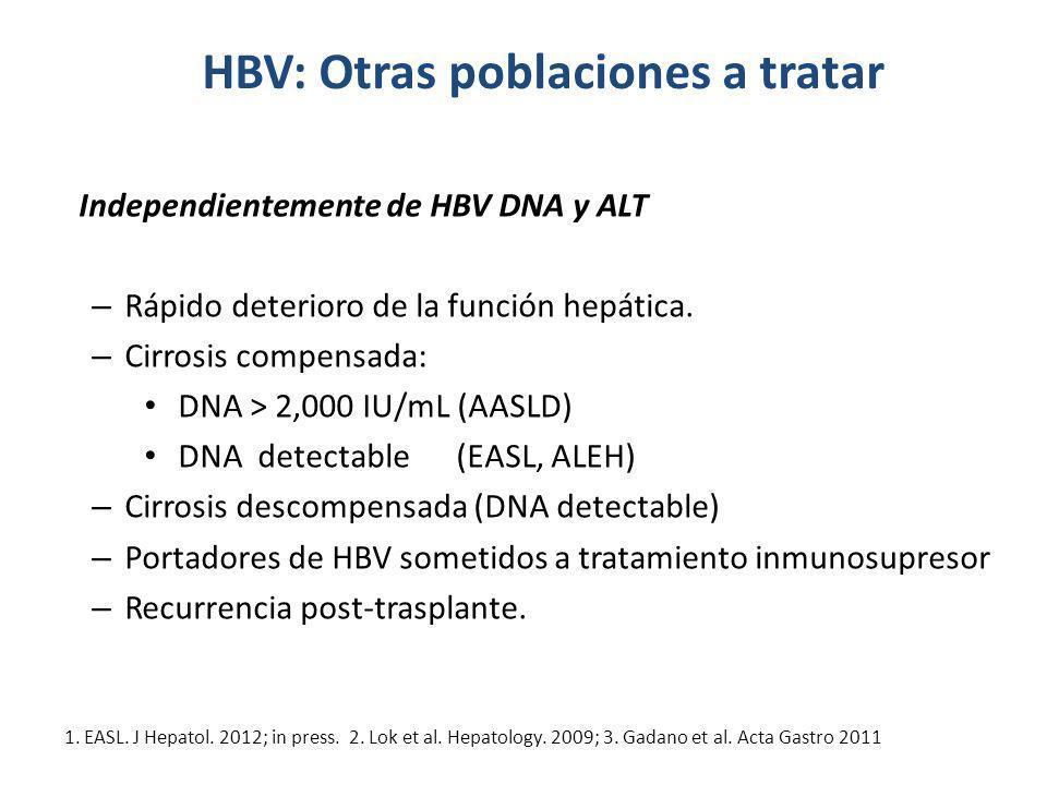 HBV: Otras poblaciones a tratar