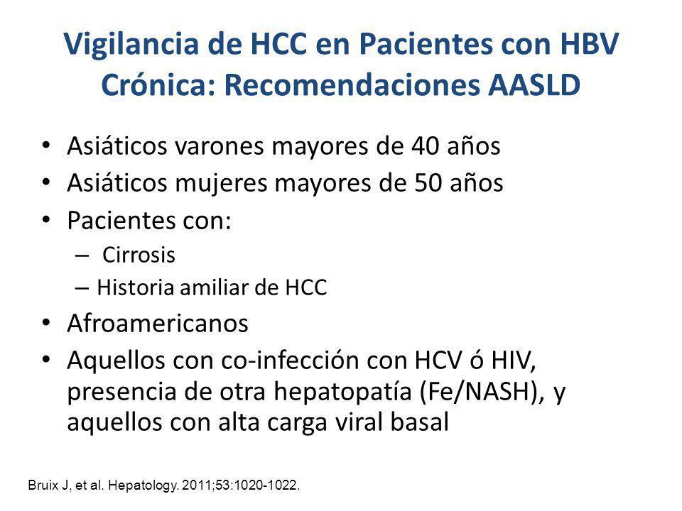 Vigilancia de HCC en Pacientes con HBV Crónica: Recomendaciones AASLD