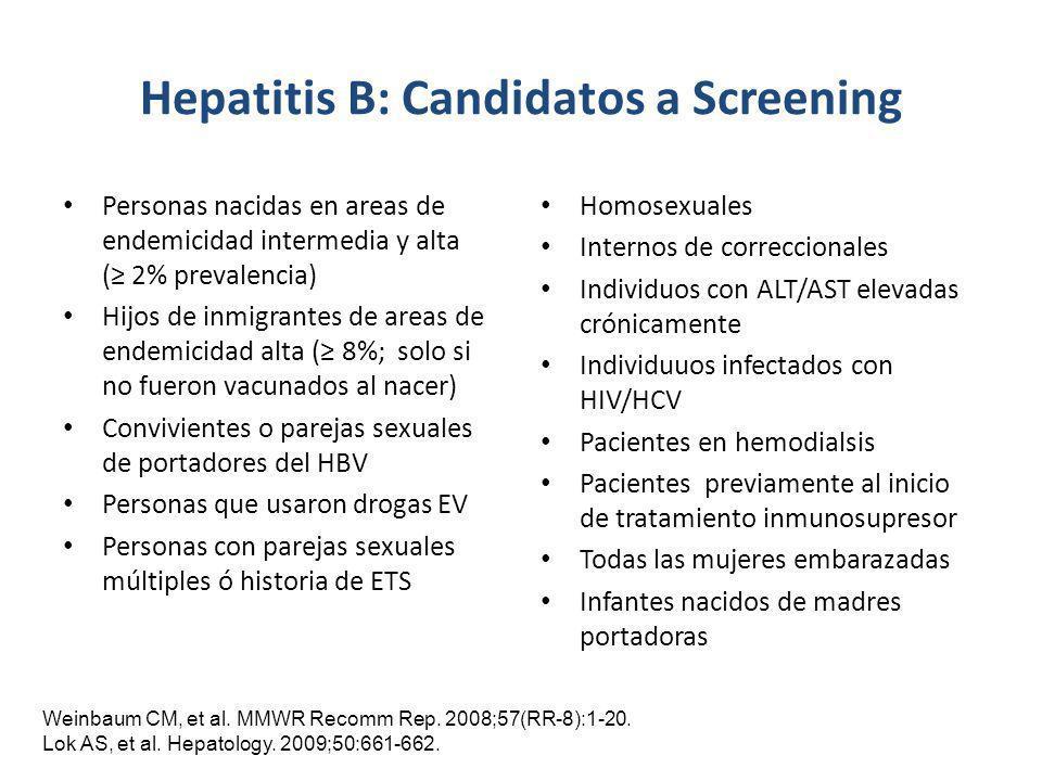 Hepatitis B: Candidatos a Screening