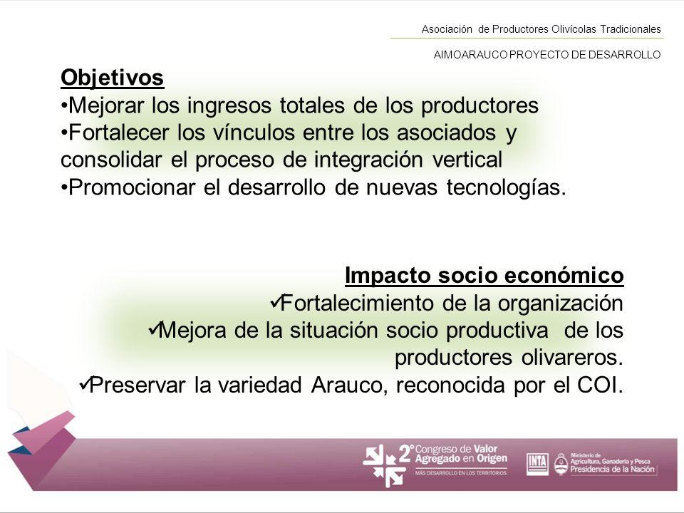 Mejorar los ingresos totales de los productores