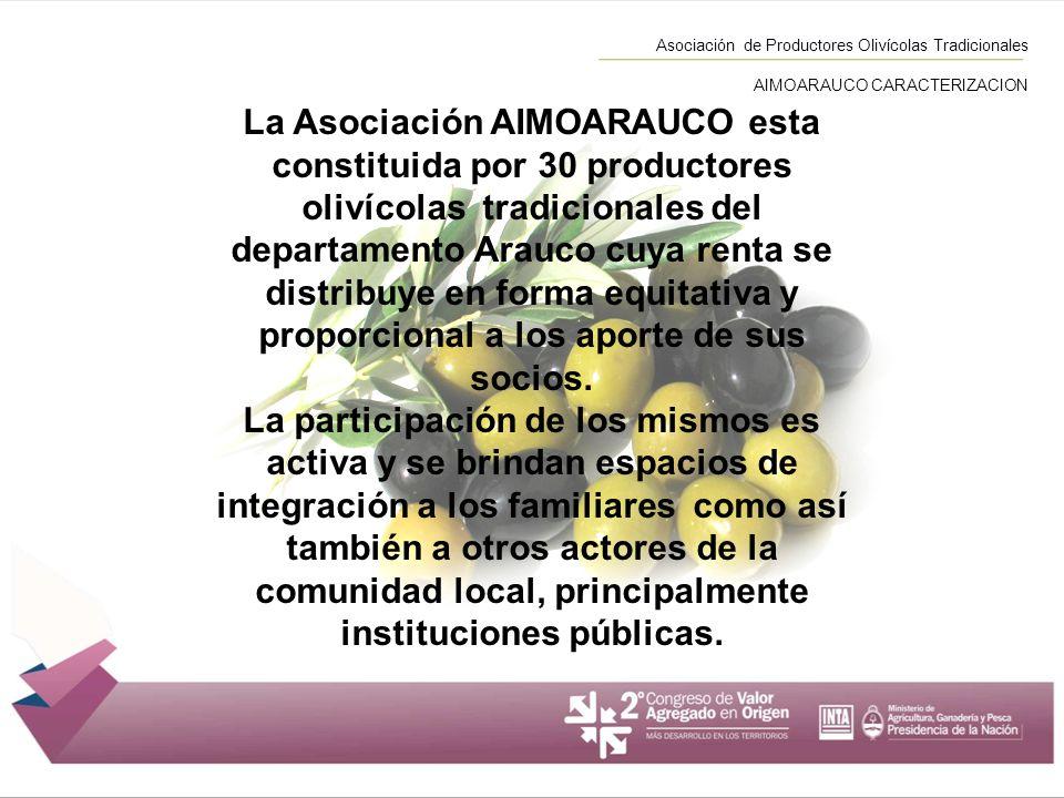 Asociación de Productores Olivícolas Tradicionales AIMOARAUCO CARACTERIZACION
