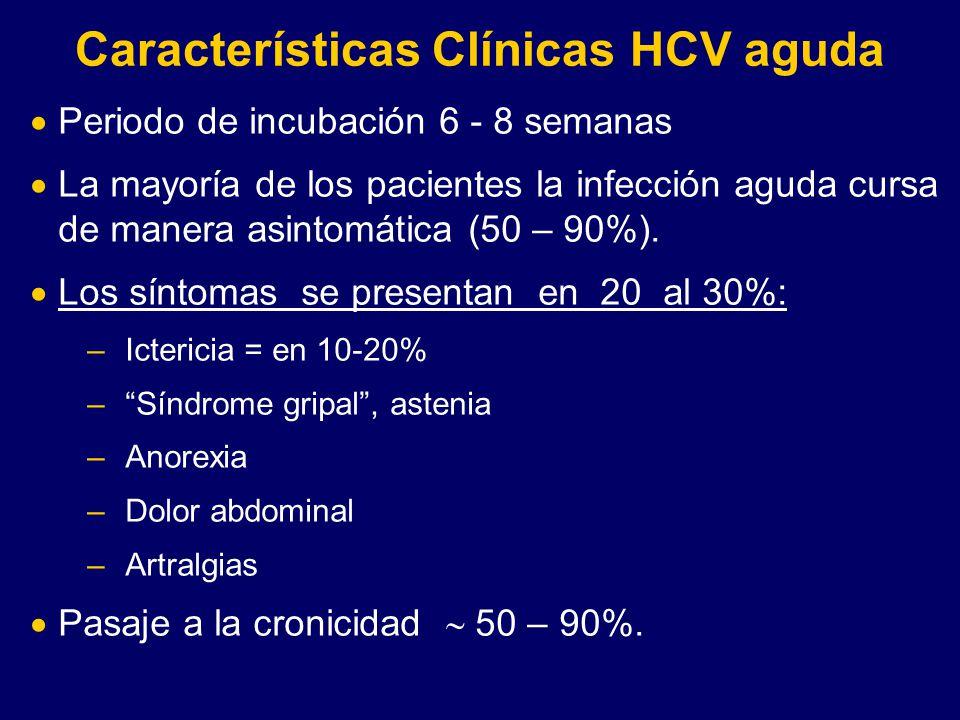 Características Clínicas HCV aguda