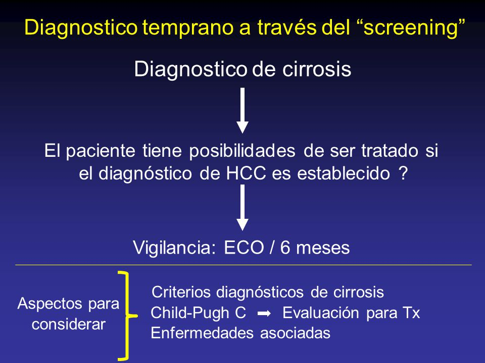 Diagnostico temprano a través del screening