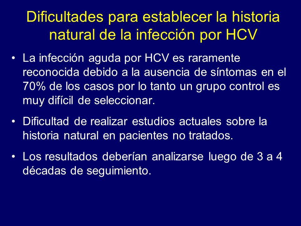 Dificultades para establecer la historia natural de la infección por HCV