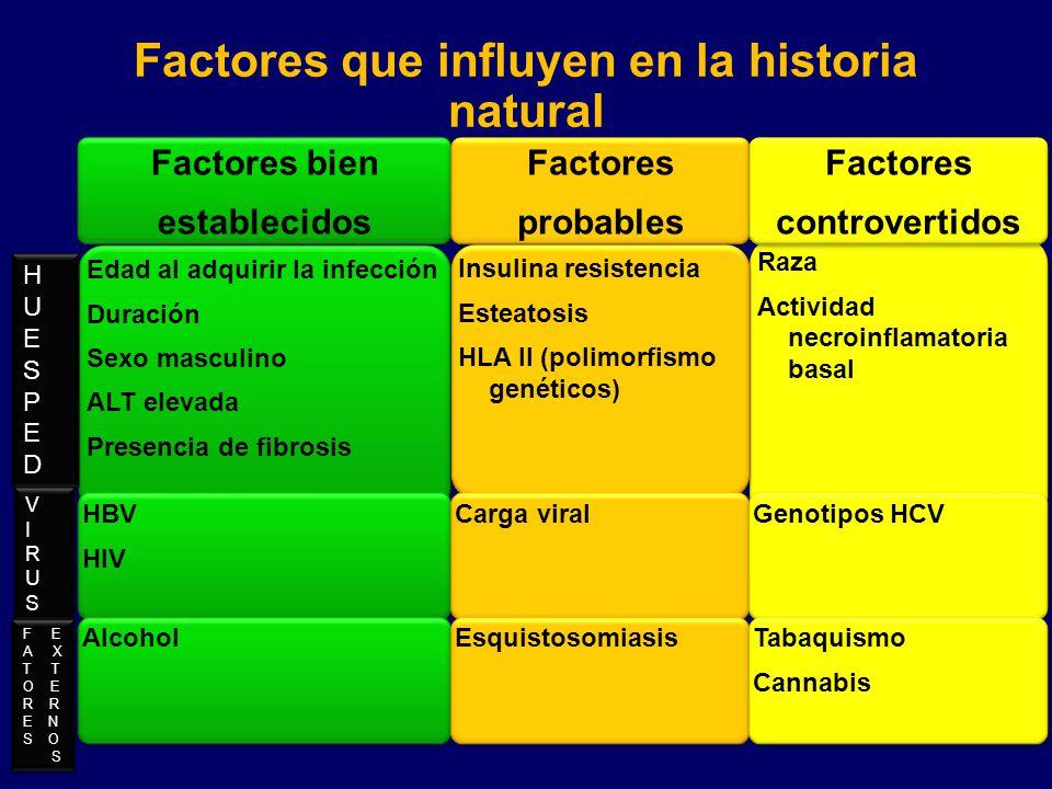 Factores que influyen en la historia natural