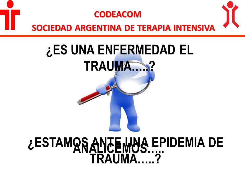 ¿ES UNA ENFERMEDAD EL TRAUMA…..