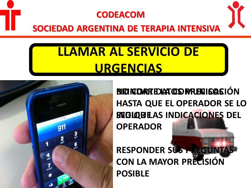 LLAMAR AL SERVICIO DE URGENCIAS
