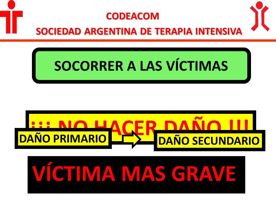 SOCIEDAD ARGENTINA DE TERAPIA INTENSIVA SOCORRER A LAS VÍCTIMAS