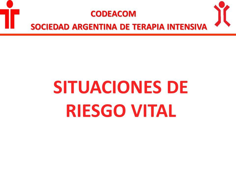SOCIEDAD ARGENTINA DE TERAPIA INTENSIVA SITUACIONES DE RIESGO VITAL