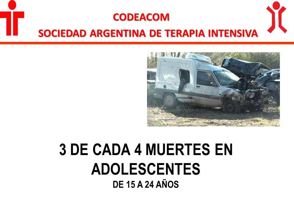 3 DE CADA 4 MUERTES EN ADOLESCENTES