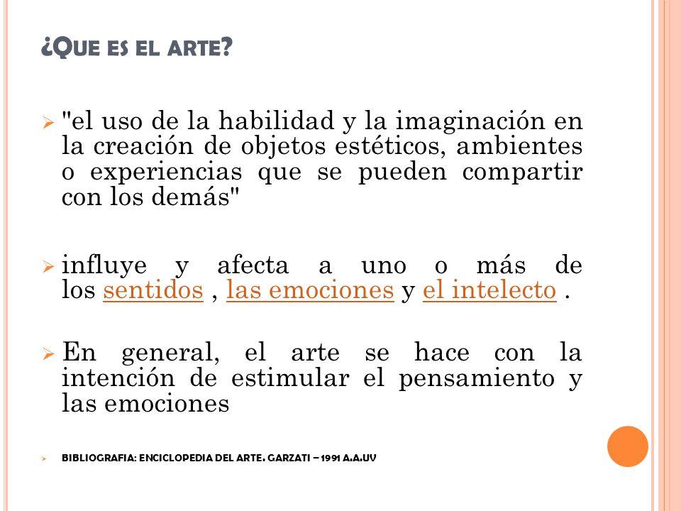 ¿Que es el arte