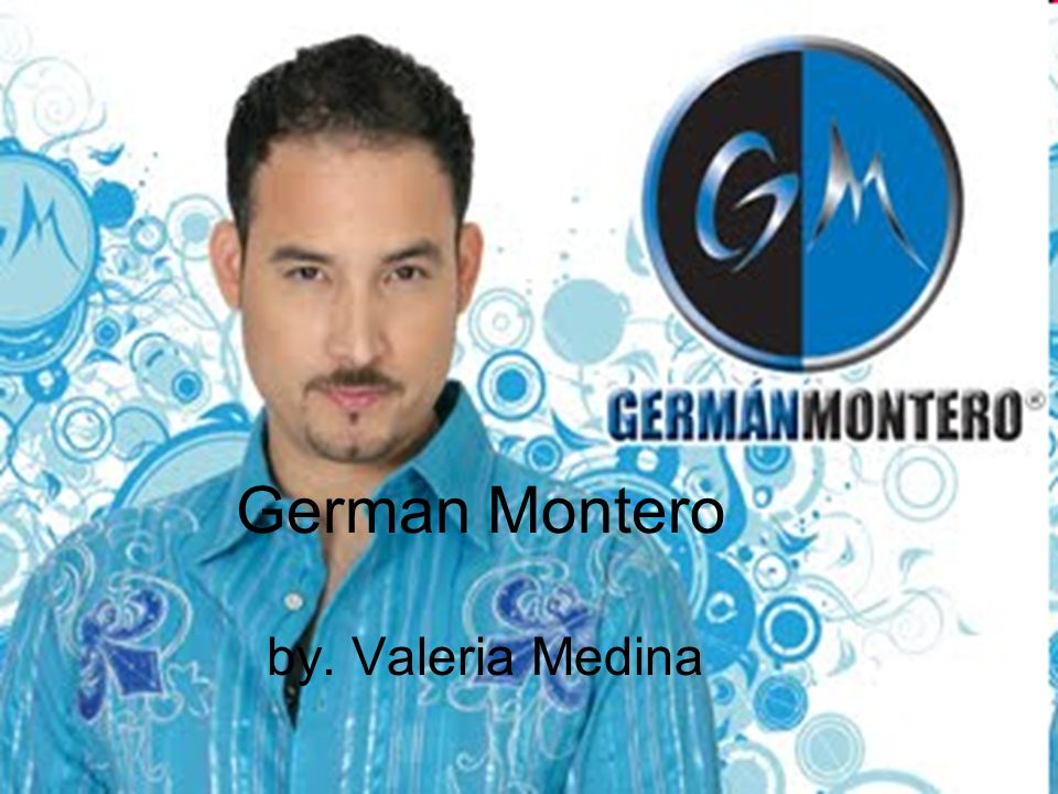 German Montero by. Valeria Medina