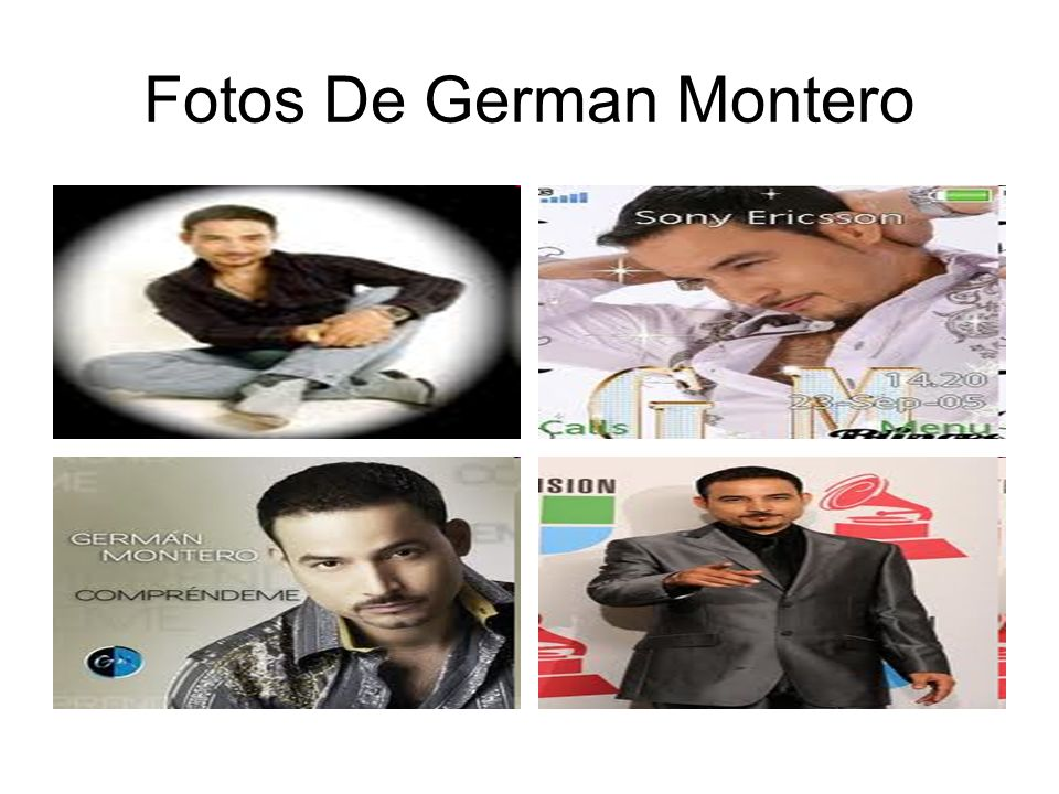 Fotos De German Montero