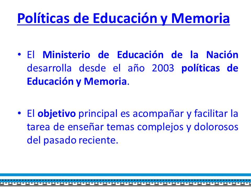 Políticas de Educación y Memoria